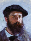Self portrait of Claude Monet
