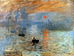 Painting Impression: Sunrise by Claude Monet