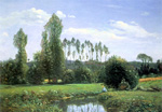 Painting View from Rouelles by Claude Monet