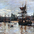 Boats at Rouen by Claude Monet